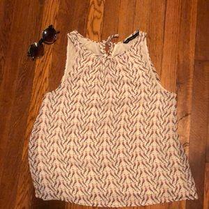 Zara sleeveless bird shirt (size M)